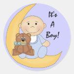 It's A Boy - Cute Baby Cartoon Sticker