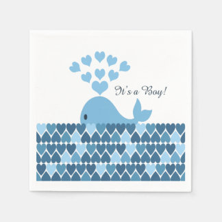 It's A Boy! Cute Whale Napkin