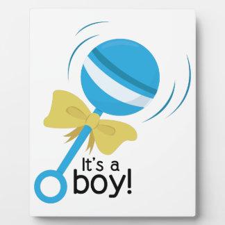 Its a Boy Display Plaque