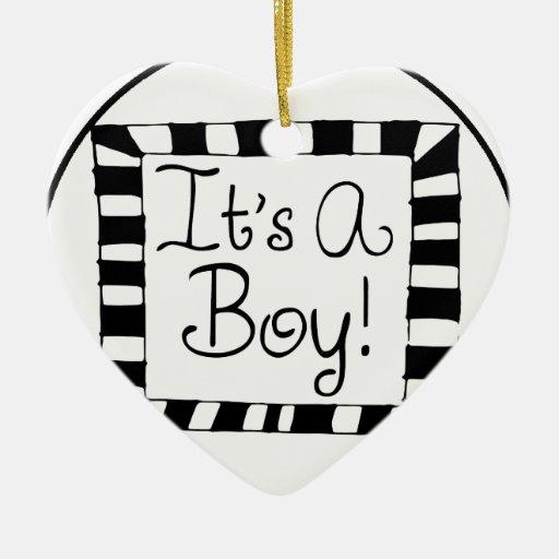 It's A Boy Doodle Milestone Ornament