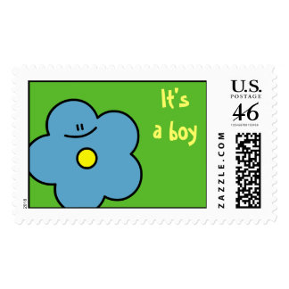 It's a boy flower stamps