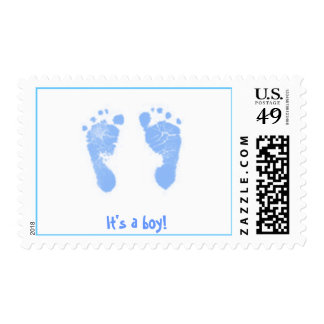 It's a boy! -footprints postage