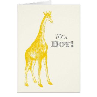 It's a Boy! Giraffe Note Card