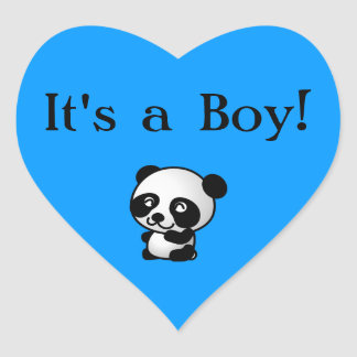 It's a Boy! heart sticker