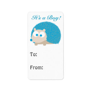 It's a Boy! Hedgehog Label