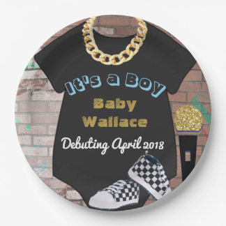 It's a Boy Hip Hop Baby Shower Plates