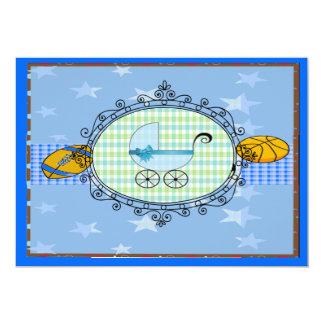 Its A boy! 5x7 Paper Invitation Card