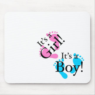 It's a Boy It's a Girl - Newborn Baby Mouse Pad