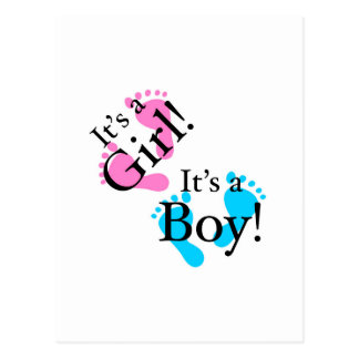 It's a Boy It's a Girl - Newborn Baby Post Cards