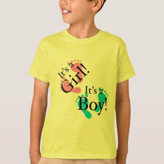It's a Boy It's a Girl - Newborn Baby T-Shirt