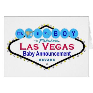 It's a BOY Las Vegas Baby Announcement Card