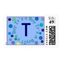 ITS A BOY LETTER T POSTAGE