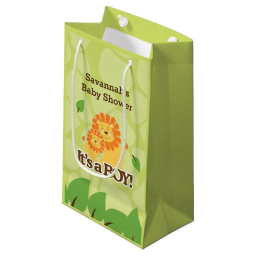 It's a Boy Lion Baby Shower Gift Bag