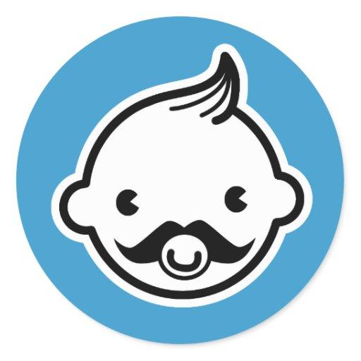 It's a boy! Little Man Mustache Blue Stickers   Zazzle: www.zazzle.com/its_a_boy_little_man_mustache_blue_stickers...