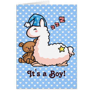 It's a Boy Llama! Card