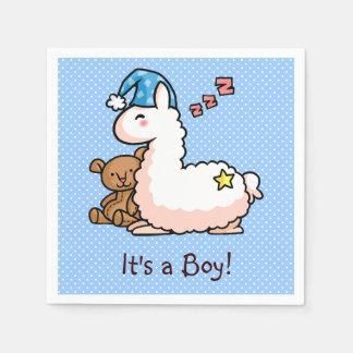 It's a Boy Llama! Napkin