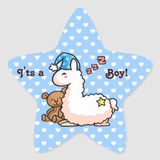 It's a Boy Llama! Star Sticker