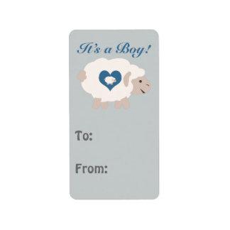 It's a Boy! Mama Sheep Address Label