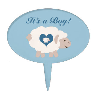 It's a Boy! Mama Sheep Cake Topper