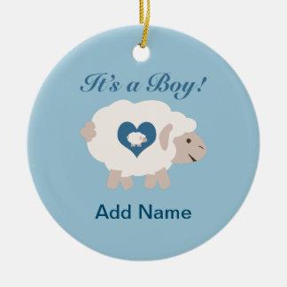 It's a Boy! Mama Sheep Ceramic Ornament