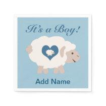 It's a Boy! Mama Sheep Napkin