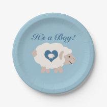 It's a Boy! Mama Sheep Paper Plate