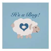 It's a Boy! Mama Sheep Poster
