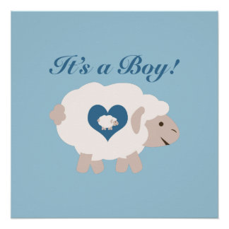 It's a Boy! Mama Sheep Poster