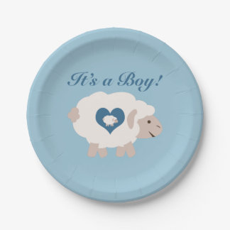 It's a Boy! Mama Sheep 7 Inch Paper Plate