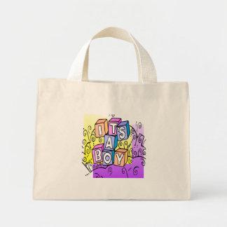 It's A Boy Mini Tote Bag