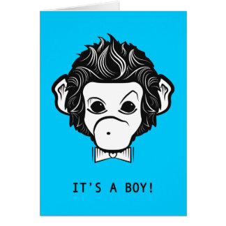 it's a boy! mister monkey card