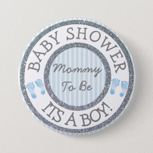 Its a Boy Mommy to be Baby Shower Button