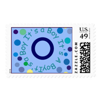 """It's A BOY Monogram """"O"""" Can be Cha... - Customized Postage"""