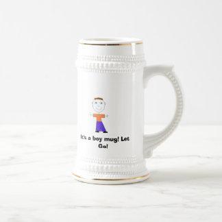 It's a boy mug! Let Go! Beer Stein