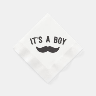 It's a Boy Mustache Party Napkins