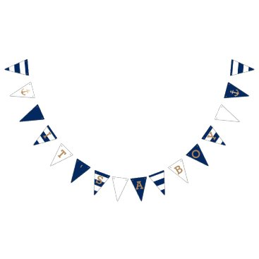 origamiprints It's a Boy | Nautical Baby Shower Bunting Flags