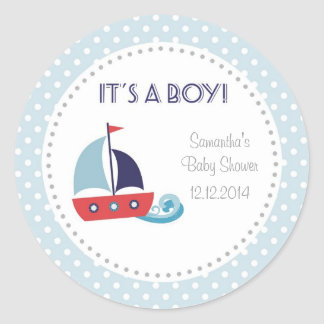 It's A Boy Nautical Sailboat Baby Shower Stickers Stickers