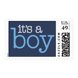 It's a Boy! - Navy & Bright Blue Postage