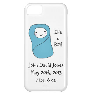 It's a Boy New Baby Birth Announcement Case For iPhone 5C