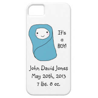 It's a Boy New Baby Birth Announcement iPhone SE/5/5s Case