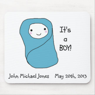 It's a Boy New Baby Birth Announcement Mouse Pad