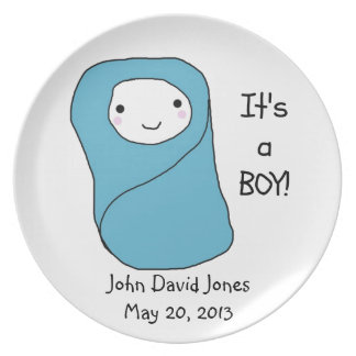 It's a Boy New Baby Birth Announcement Plate