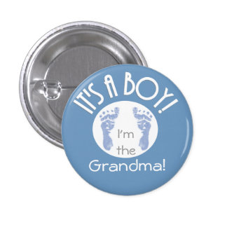 It's a Boy! New Baby Button for Relatives - Round