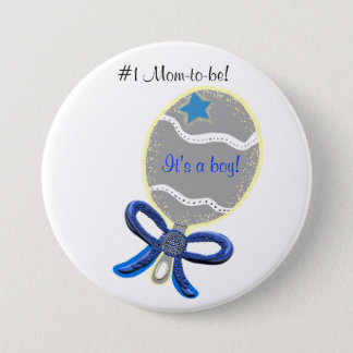 It's a Boy New Mom-to-be Baby Shower Button