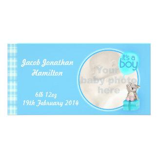 """It's a boy"" newborn baby announcement card Photo Card"