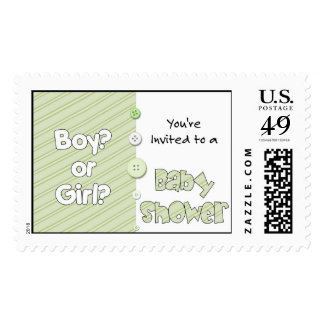 It's a Boy? or Girl? You're Invited to a Baby Show Postage
