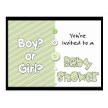 It's a Boy? or Girl? You're Invited to a Baby Show Postcard