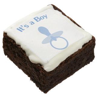 It's a Boy Pacifier Brownie