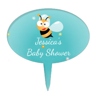 It's a Boy Pastel Blue Bumble Bee Boy Baby Shower Cake Topper
