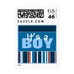 It's a BOY!  Patriot Stripes - Stamp